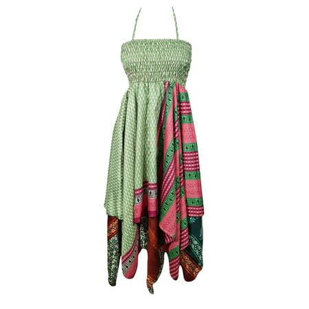 0d3237a940 Mogul Interior - Mogul Womens Halter Dress Handkerchief Hem Two ...