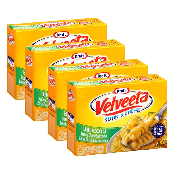 (4 Pack) Kraft Velveeta Broccoli Rotini & Cheese. 9.4 oz Box