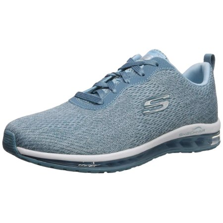 Skechers Womens Skech Air Low Top Lace Up Fashion, Light Blue, Size