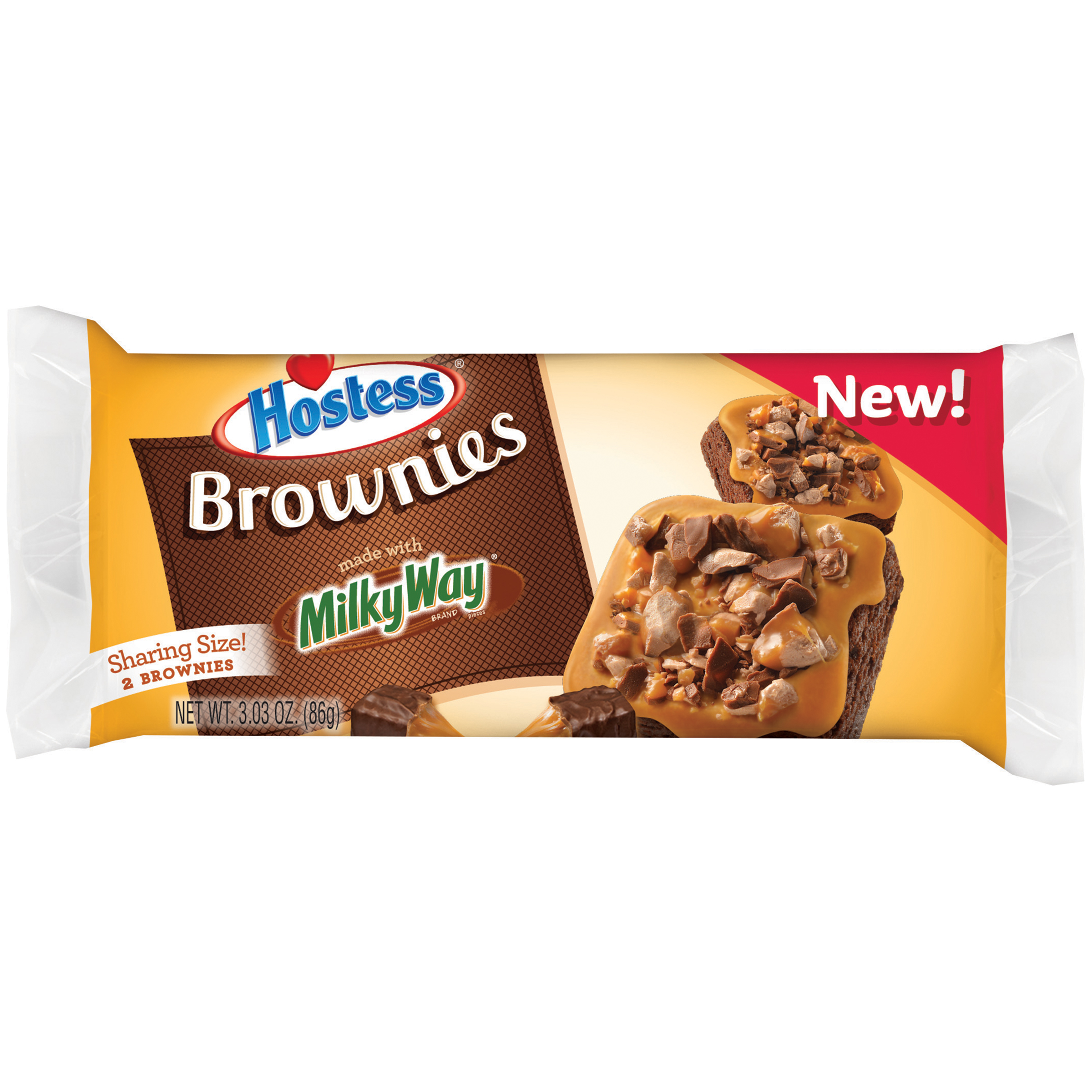 Hostess Brownies Made with Milky Way, 3.03 oz