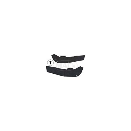 MACs Auto Parts  60-36155 Fender Apron To Upper Control Arm Splash Shields - Die-Cut Black Rubber - Ford & - Shields Rubber