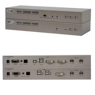 Gefen - EXT-DVI-3600HD - Extendsdvi, Usb2.0, Analogaudio, Andrs-232fromacomputertoaremoteworkstationupto6, 60