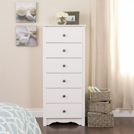Kingfisher Lane 6 Drawer Lingerie Chest in White