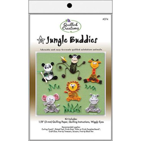 Quilled Creations Jungle Buddies Quilling Kit
