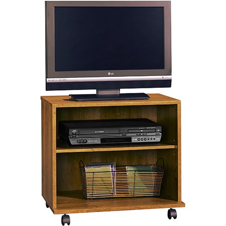 Sauder Brown Rolling Tv Cart For Tvs Up To 26