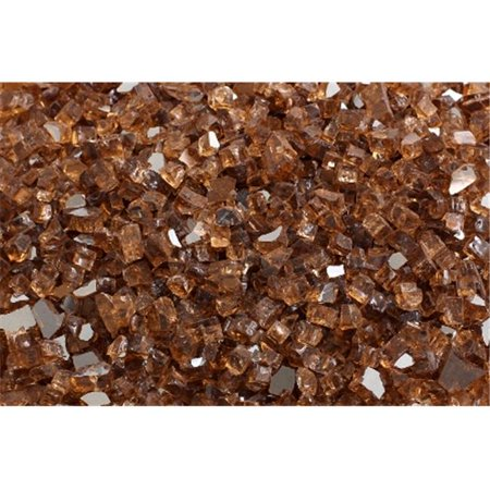 FireGlass Plus Q-CR-10 Quarter Inch Copper Reflective Fire Glass, 10 Pound Bag