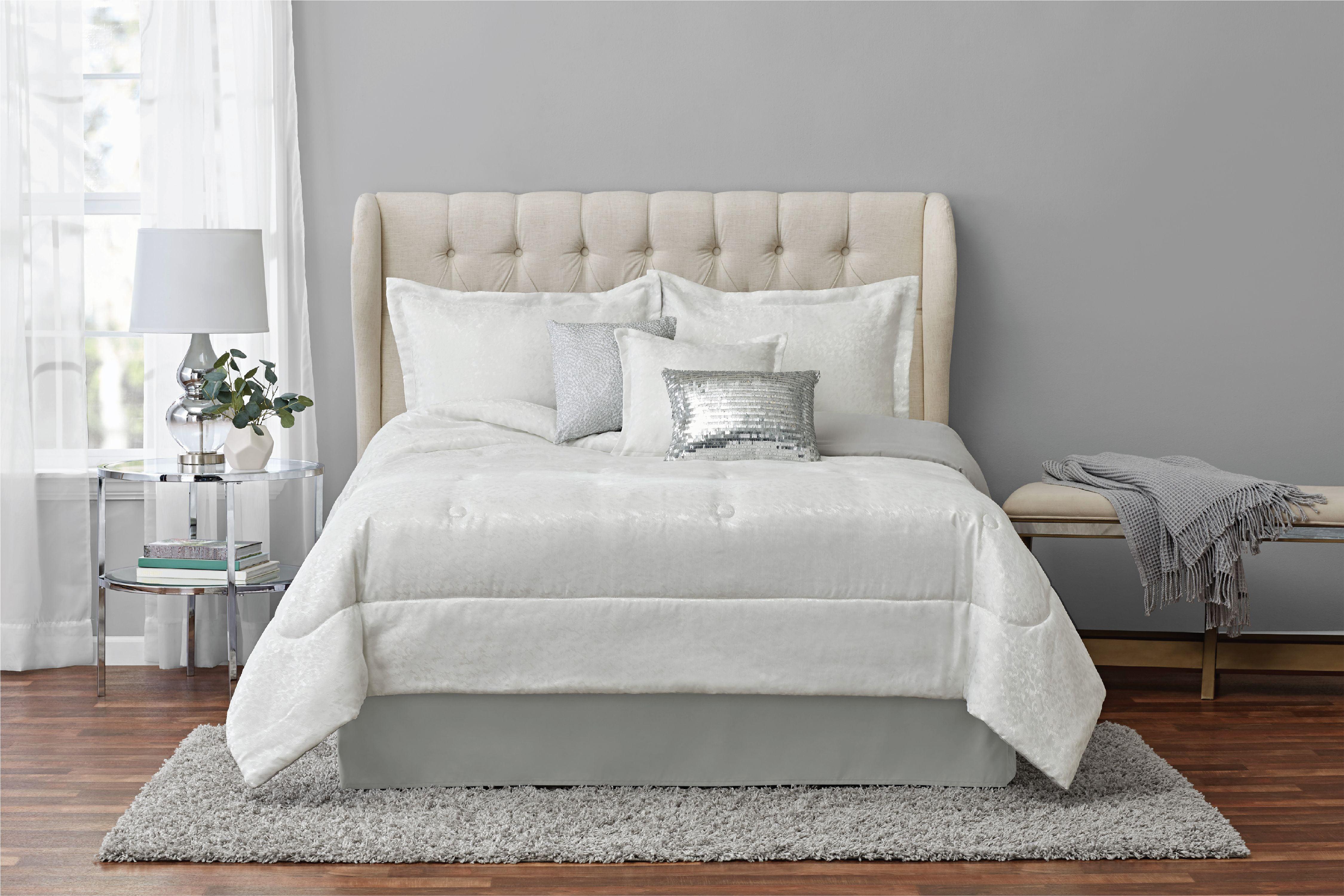 Mainstays Felix Soft Woven Jacquard 7 Piece Comforter Set King