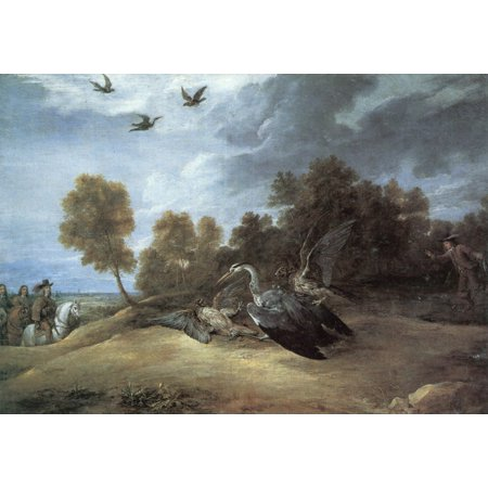 Framed Art for Your Wall Teniers d. J., David - The baits of herons 10 x 13 Frame