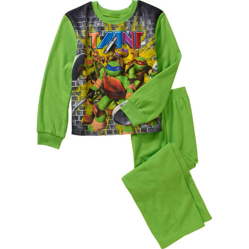 Teenage Mutant Ninja Turtles Boy 2 PC Long Sleeve Pajama Set Size 6//7