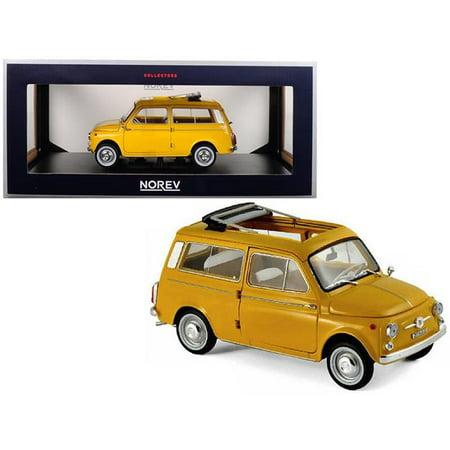 Norev 187724 1 isto 18 1968 Fiat 500 Giardiniera Positano Diecast Model Car, Yellow