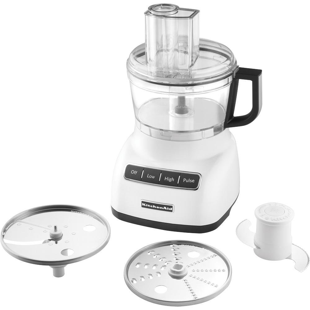 KitchenAid RRKFP0711WH 7 Cup Food Processor, White (CERTIFIED REFURBISHED)