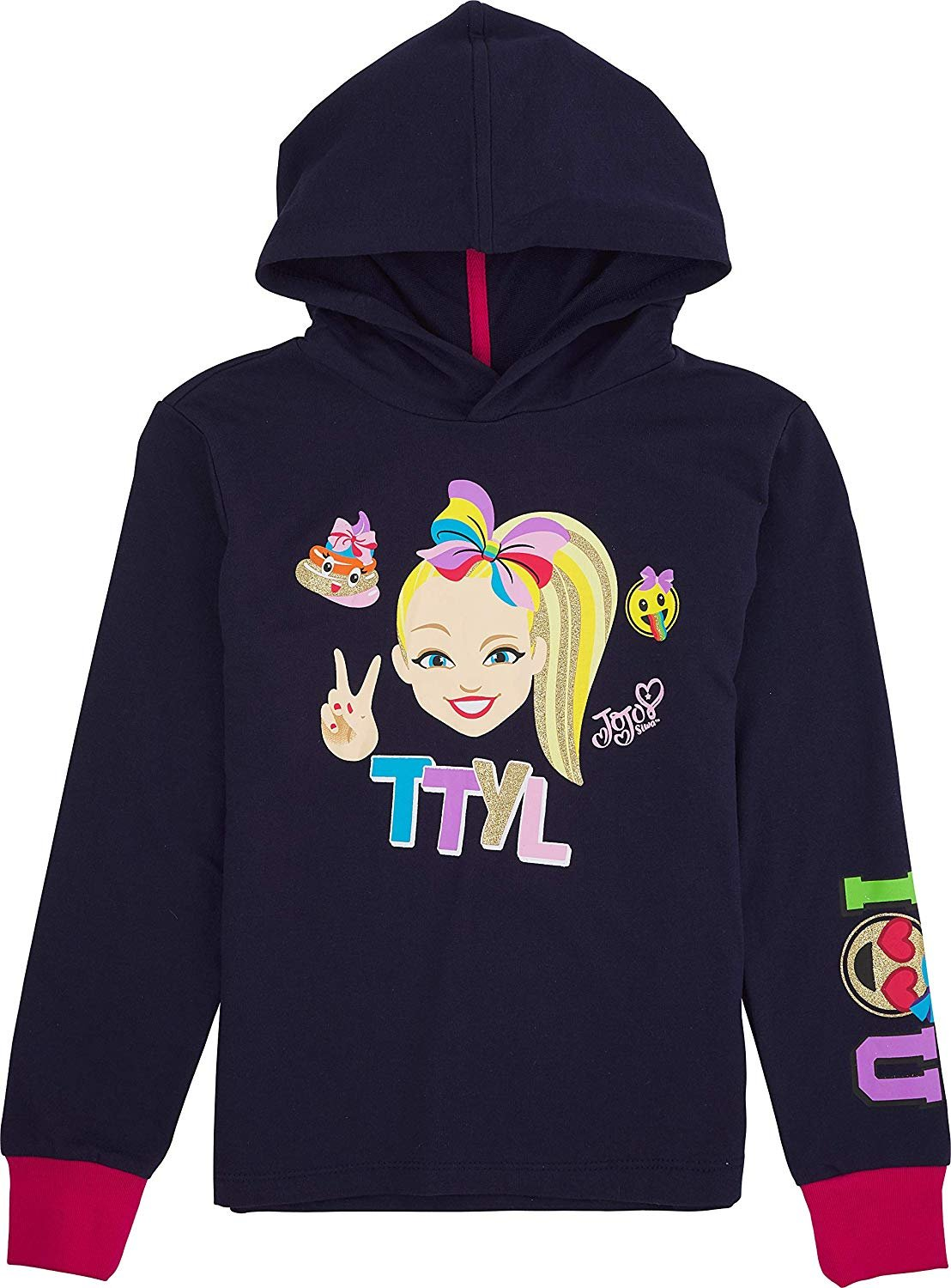 ... JoJo Siwa Graphic Cold Shoulder Hoodie Top and Legging 3-Piece Outfit Set
