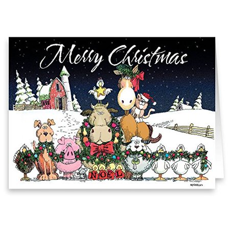 Farm Animals - Boxed Christmas Card - 18 Cards & Envelopes-20084