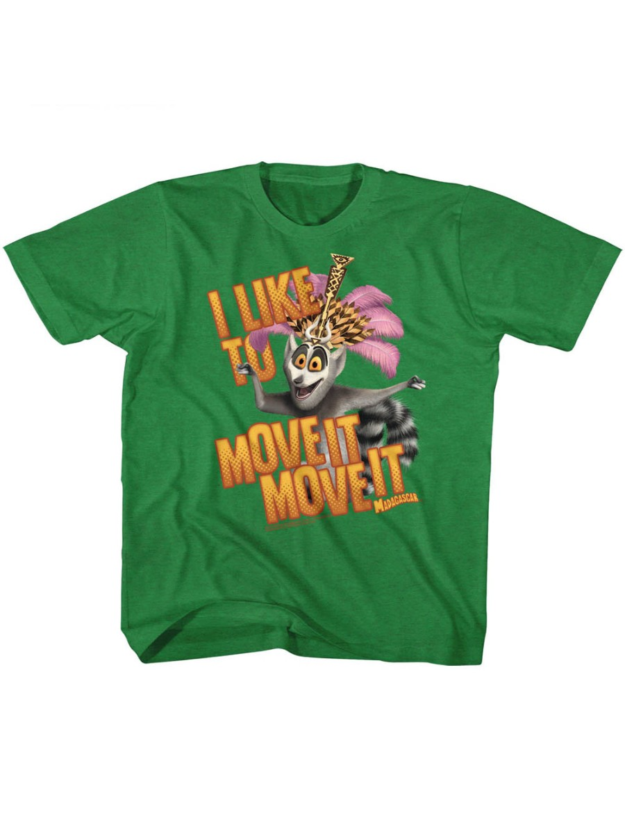 Madagascar Children's Movie Mov Ite Move It Kelly Heather Toddler Little Boys T-Shirt Tee