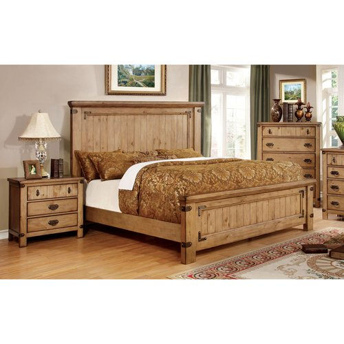 Furniture of America Moira I Country Style 3-Piece Weathered Elm Bedroom Set, Multiple Sizes by Furniture of America