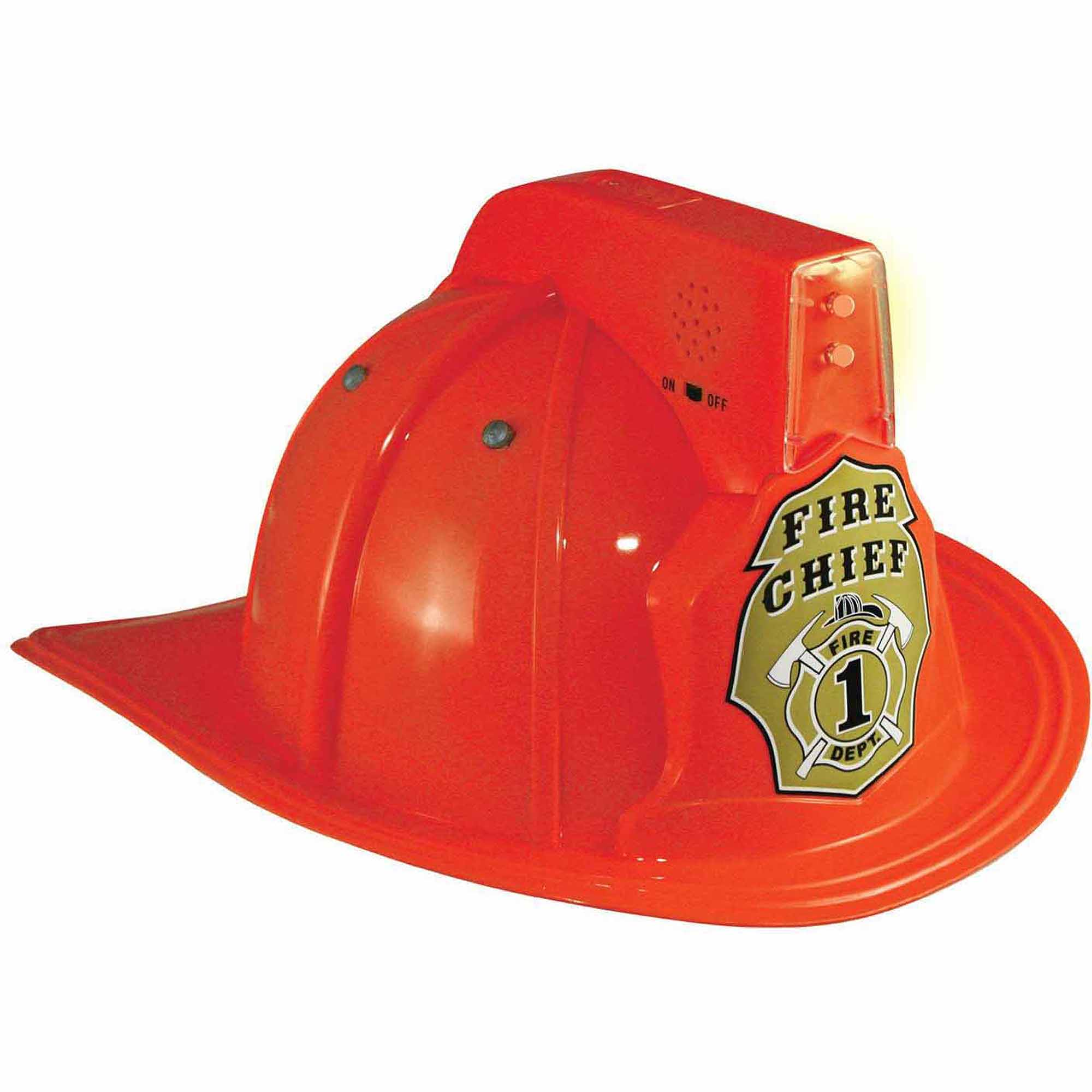 Jr. Fire Chief Helmet with Lights Child Halloween Accessory