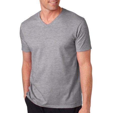 113d251c6 Gildan - 64V00 Gildan Softstyle Adult V-Neck T-Shirt -Sport Grey -Small -  Walmart.com
