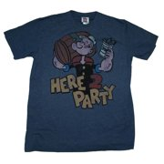 Popeye Here To Party Junk Food Vintage Style Soft T-Shirt Tee