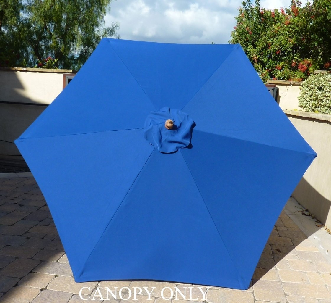 Formosa Covers 9ft Umbrella Replacement Canopy 6 Ribs in Royal (Canopy Only)
