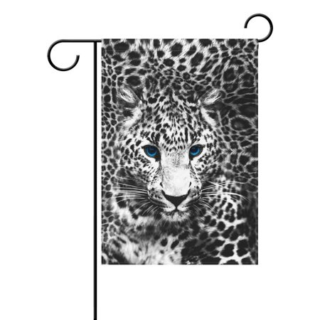 Image of POPCreation Animal Leopard Garden Flag Leopard Print Outdoor Flag Home Party 12x18 inches