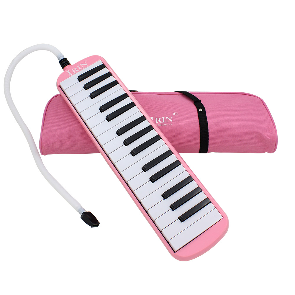 32 Piano Keys Melodica Musical Education Instrument for Beginner Kids Children Gift with Carrying Bag Black