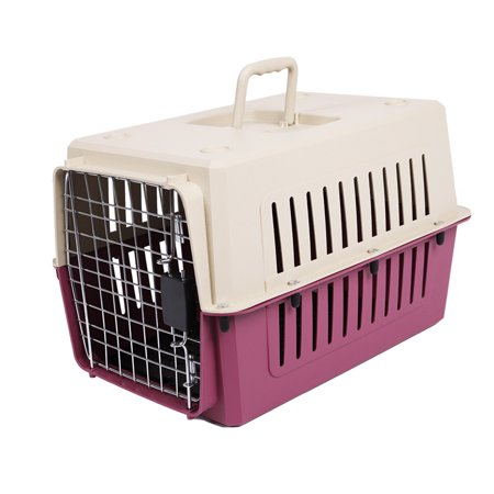 (KARMAS PRODUCT Heavy Duty Portable Kennel Plastic Cat & Dog Carrier Cage Airline Approved,L;24