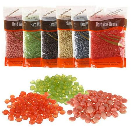 300/500g Hard Wax Beads Beans No strip Hot Film Waxing Hair Body Bikini Removal Care