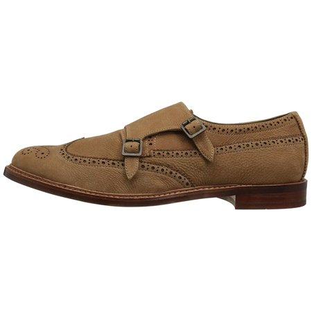 Rust Color Leather (Aldo Mens Briladien-29 Leather Buckle Dress Oxfords, Rust, Size 7.0)
