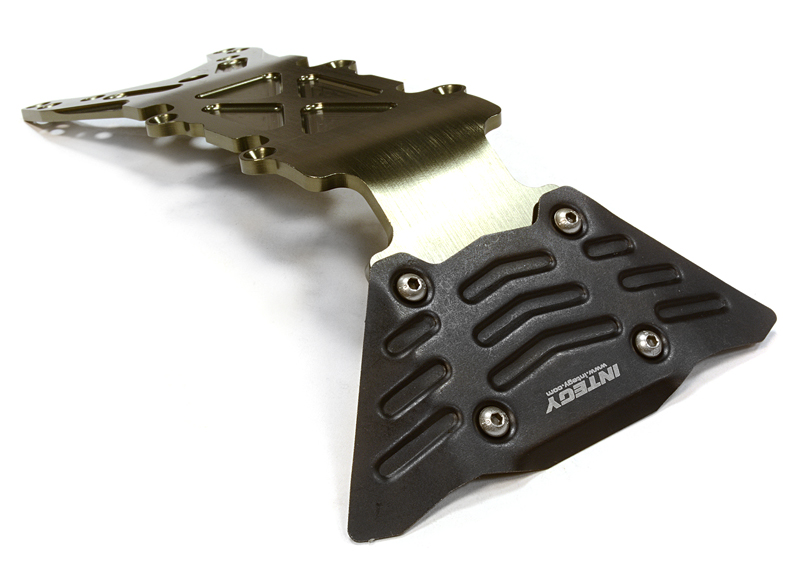Integy RC Toy Model Hop-ups C26068GREY Billet Machined Front Skid Plate for Traxxas 1 10... by Integy