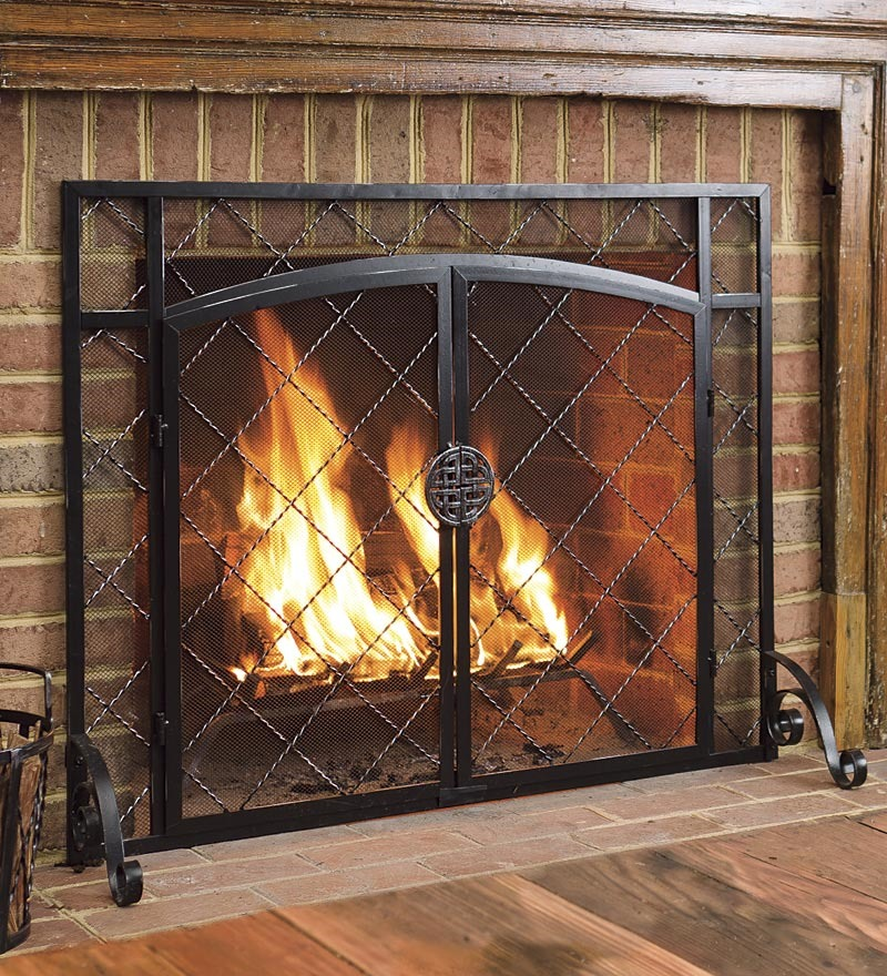 2 Door Celtic Knot Flat Fireplace Screen 39 Quot W X 31 Quot H In