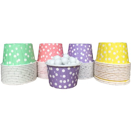 Pink,Purple, Green and Yellow Polka Dot Candy/Nut Cups