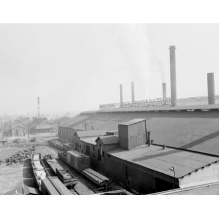 USA Pennsylvania Harrisburg elevated view of Steel Corporation buildings Canvas Art -  (24 x 36) ()
