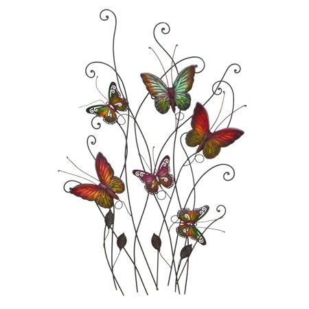 Gorgeous And Radiant Multicolored Butterflies Wall Decor