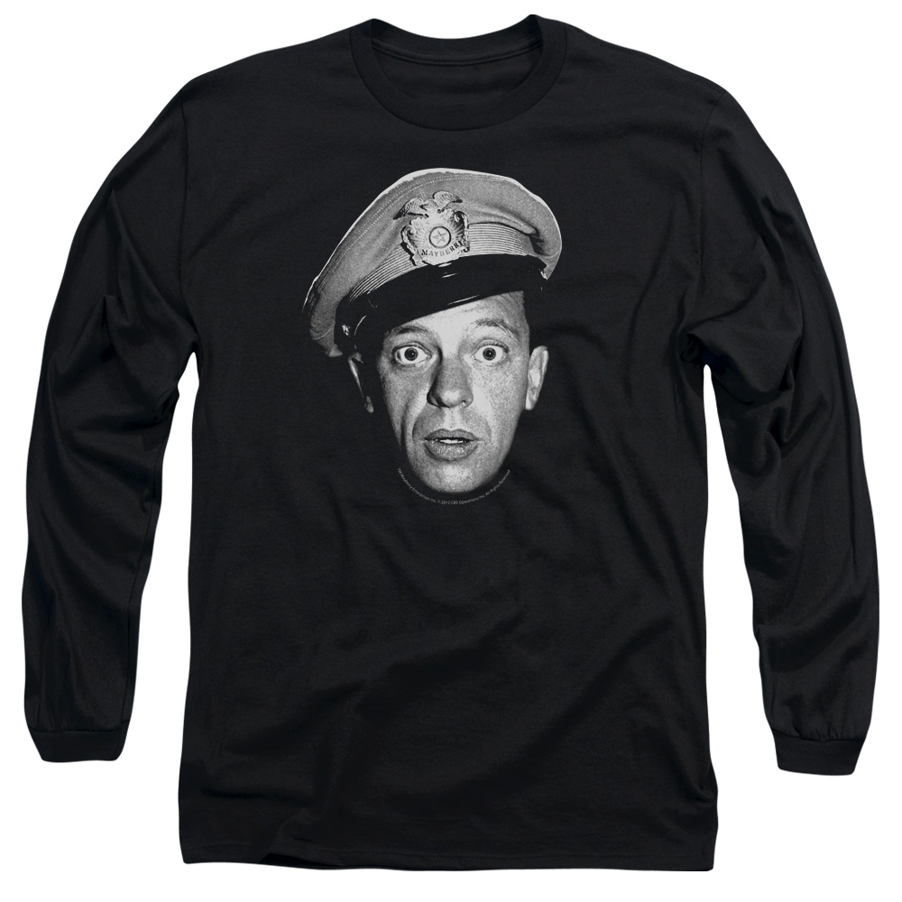 The Andy Griffith Show Barney Head Mens Long Sleeve Shirt