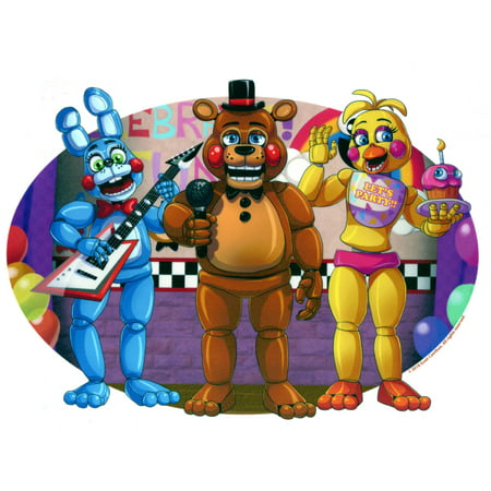 Five Nights at Freddy's Edible Icing Image Cake cupcake or cookie topper (Edible Ninja Turtle Cupcake Toppers)