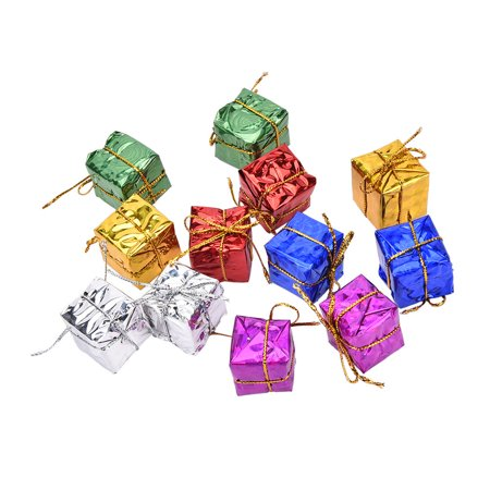 24XColorful XMAS Small Gift Boxes Christmas Tree Hanging Decoration Ornament YF ()