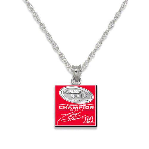 2011 NASCAR Sprint Cup Series Champion Tony Stewart Sterling Silver 3X Champ Enamel Pendant Necklace