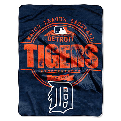 """Detroit Tigers The Northwest Company 46"""" x 60"""" Structure Micro Raschel Plush Blanket - No Size"""