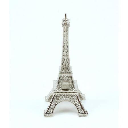 Replica One Piece - Mini 3 inch Silver Eiffel Tower Figurine Statue Replica Souvenir Statue 1 Piece