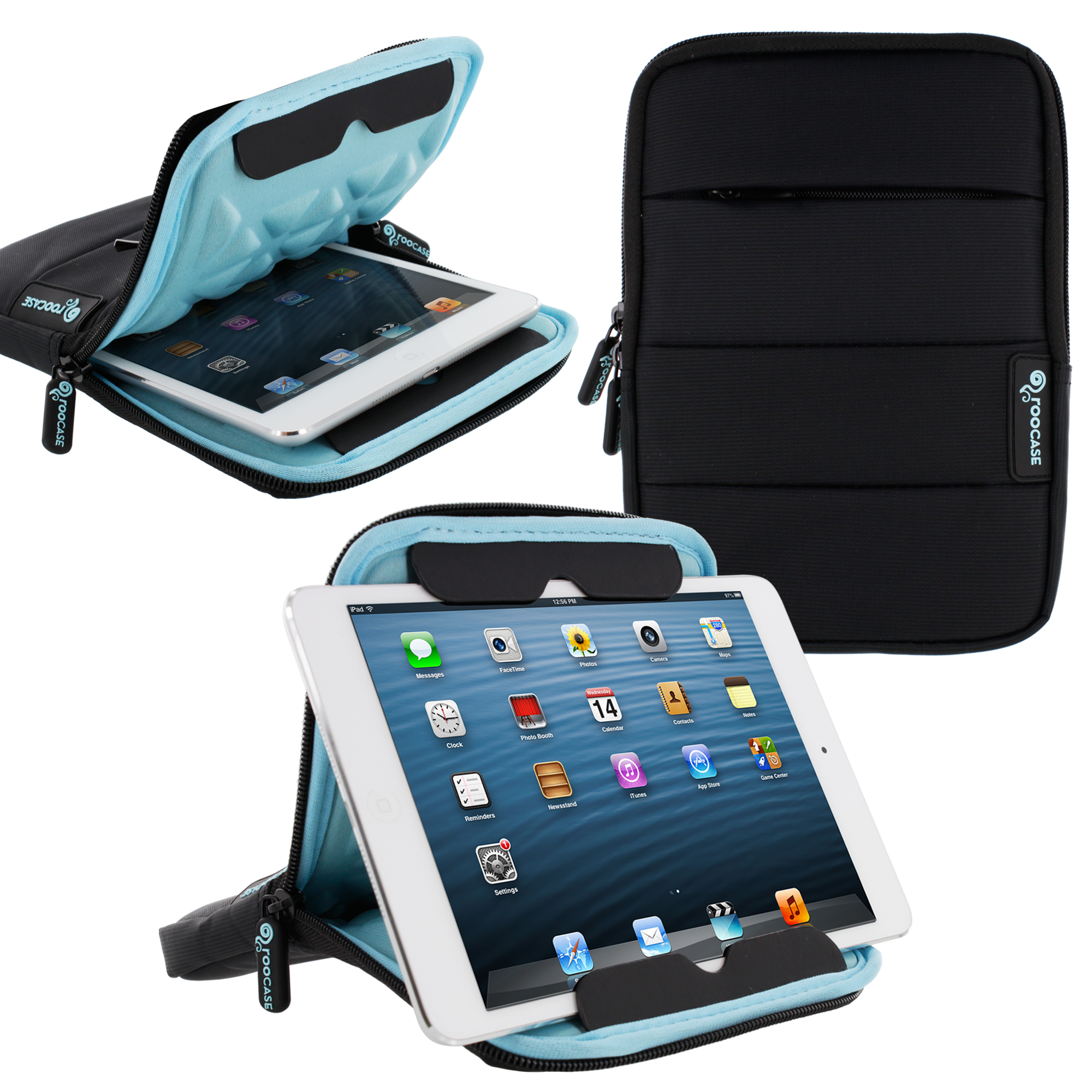 roocase XTREME Super Foam Universal 7-inch Sleeve Case with Stand for iPad Mini / Galaxy Tab 7.0 8.0 / Tab S 8