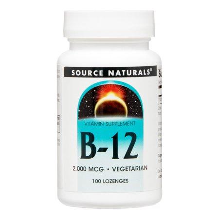 Source Naturals B-12 Sublingual 2000 mcg - 100 Tablets