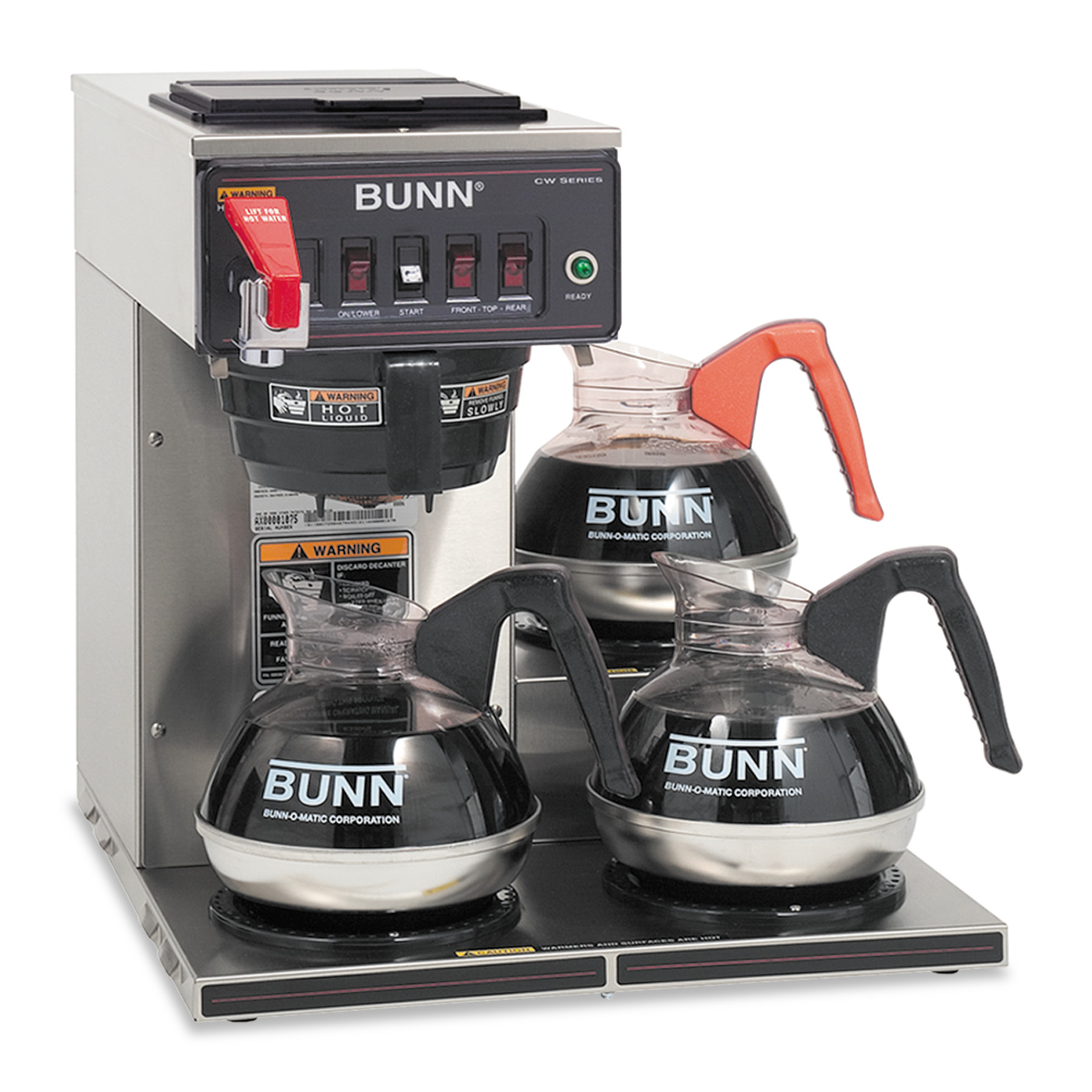 BUNN CWTF15-3 3L, 12-Cup Automatic Commercial Coffee Brewer, 3 Warmers