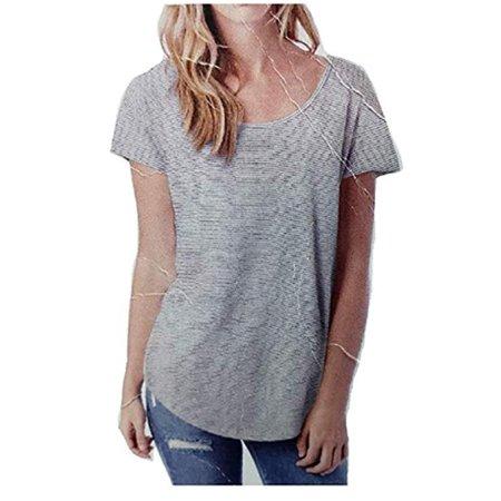 Alternative Women's Origin Short-Sleeve T-Shirt (Eco Ivory Seaside Stripe, Medium)