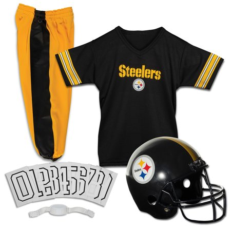 Franklin Sports NFL Pittsburgh Steelers Youth Licensed Deluxe Uniform Set, Large