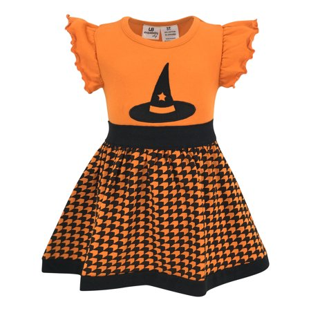 Unique Baby Girls Witch Hat Halloween Dress (4t) - Halloween Themed Dresses