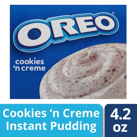 (5 Pack) Jell-O Instant Oreo Cookies 'n Cream Pudding & Pie Filling, 4.2 oz