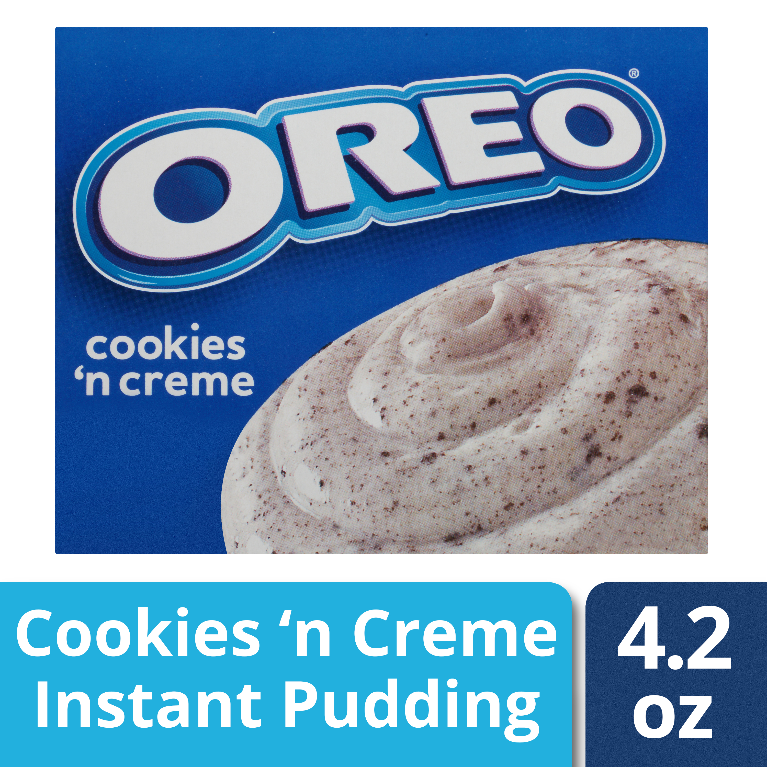 (5 Pack) Jell-O Instant Oreo Cookies 'n Cream Pudding & Pie Filling, 4.2 oz Box