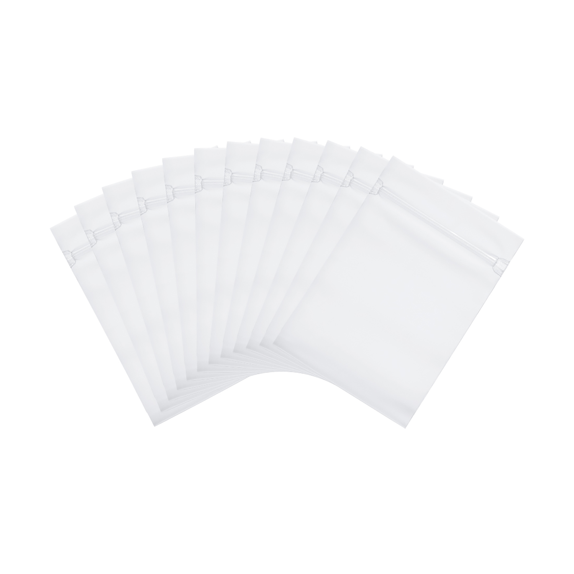 """4 Mil White Block Clear Zip Lock for Storage Plastic Bags 6/"""" x 9/"""" 2000 Pieces"""