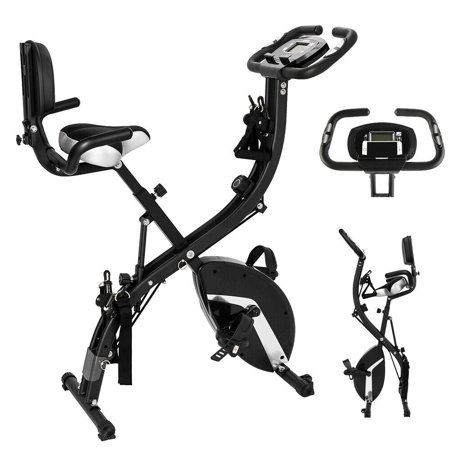 3-in-1 Folding Stationary Upright Exercise Bike for Workout Fitness Cycling Indoor Home (The Best Spinning Bikes For Home Use)