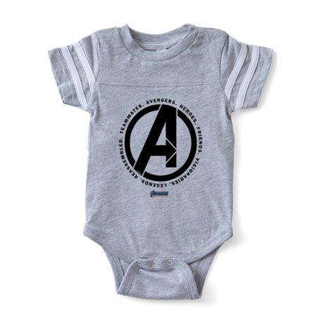 CafePress - Avengers Endgame Logo - Cute Infant Baby Football Bodysuit - Baby Avengers